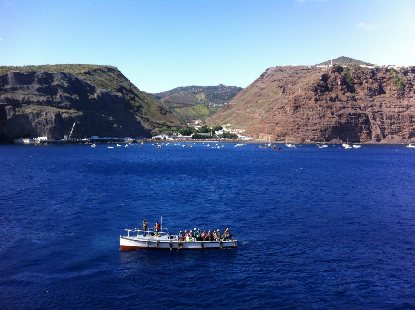The RMS St Helena and our welcome arrival at Jamestown