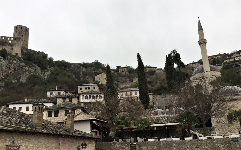 Počitelj, Bosnia, as seen from the road. Near Mostar