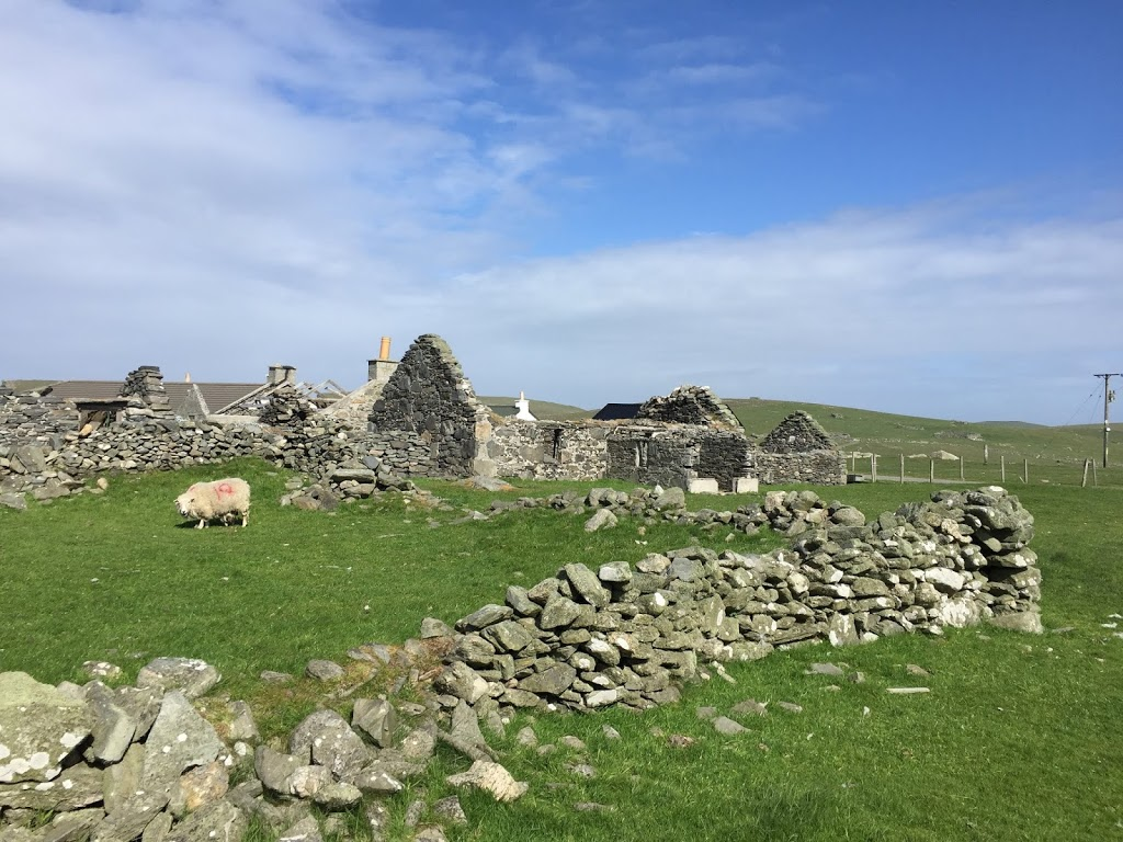 A ruined farm house in Shetland