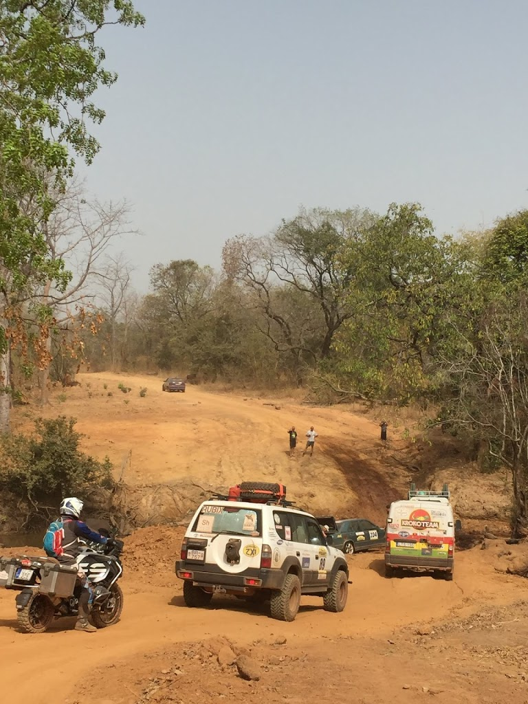 Difficult roads in Guinea, West Africa