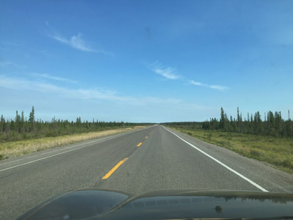 Driving to Yellowknife