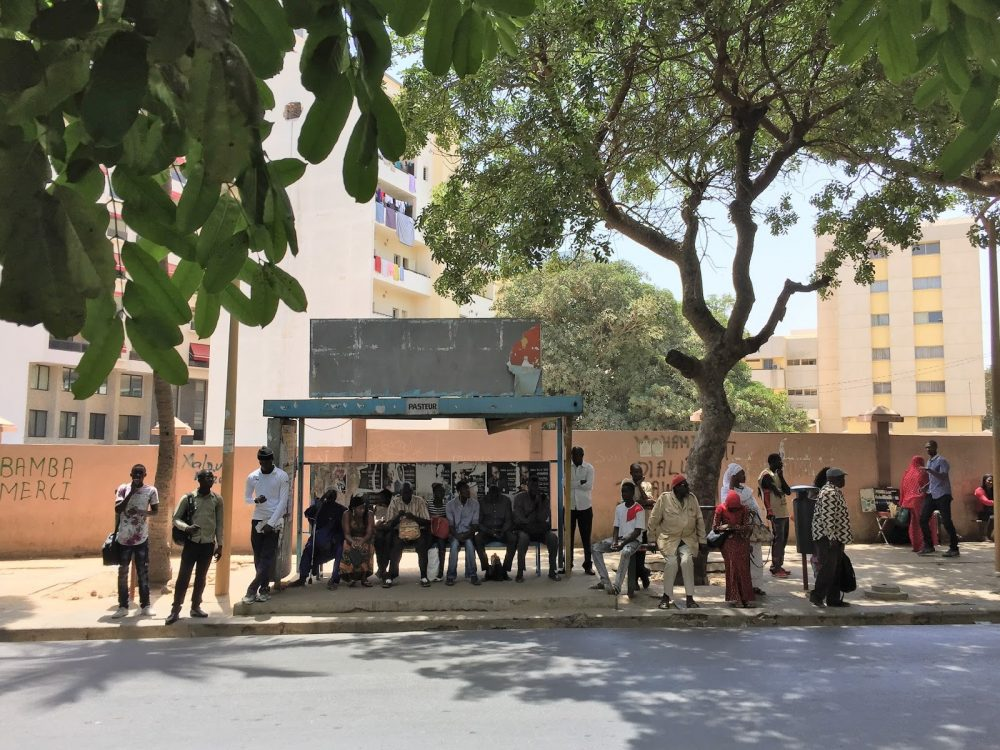 Dakar bus stop, Senegal